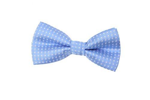 (Children Kids Boys Toddler Wedding Party Bow Tie Tuxedo Neckwear (Light Blue & white)