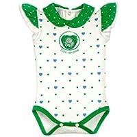 Rêve D'or Sport - Body Coração Palmeiras Menina, G, Branco/Verde