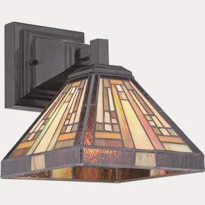 (Quoizel TFST8701VB Stephen Tiffany Wall Sconce Lighting, 1-Light, 100 Watt, Vintage Bronze (10