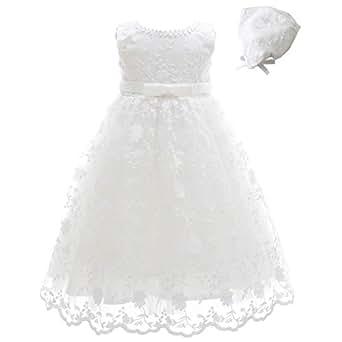 Meiqiduo Vestido De Bautizo Para Niña Con Capó
