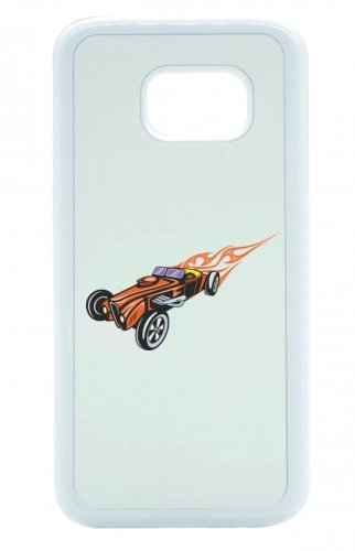 "Smartphone Case Apple IPhone 5C ""Cobra Hotrod Cabrio mit roten Flammen America Amy USA Auto Car Luxus Breitbau V8 V12 Motor Felge Tuning Mustang Cobra"" Spass- Kult- Motiv Geschenkidee Ostern Weihnacht"