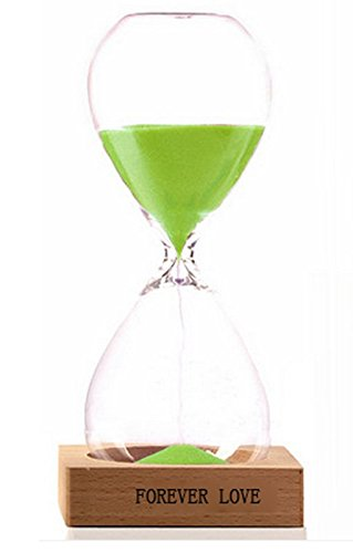 Creative Time 60 Minutes Forever Love Hourglass (grass green) (Sand Love Grass)