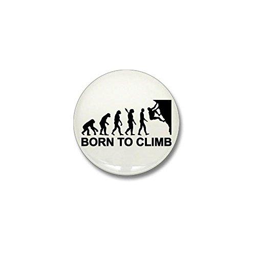 CafePress - Evolution rock climbing Mini Button - 1