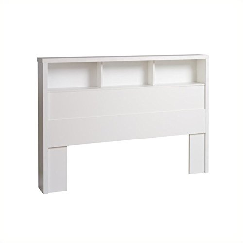 Hawthorne Collections King Bookcase Headboard in White ()