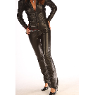 black leather catsuit | made to order catsuit | leather playsuit