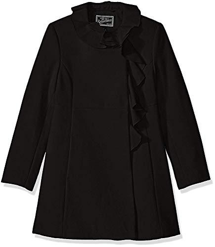 (Rothschild Girls' Big Faux Wool Coat with Ruffle Trim)