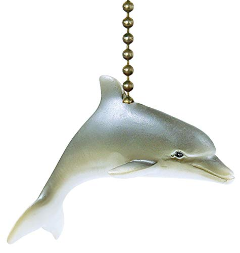 Dolphin Pull Fan Ceiling - Clementine Designs Tropical Dolphin Porpoise Ocean Life Fan Light Pull
