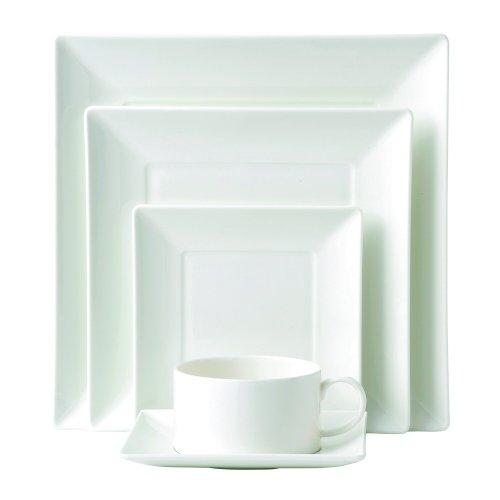 Wedgwood Ashlar 5-Piece Square Place Setting, White