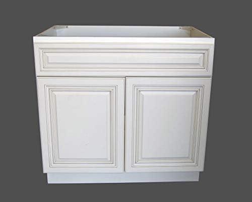 New Atique White Single-sink Bathroom Vanity Base Cabinet 30″ Wide x 21″ Deep