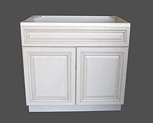 New Atique White Single-sink Bathroom Vanity Base Cabinet ...