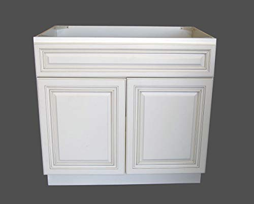 (New Atique White Single-sink Bathroom Vanity Base Cabinet 36