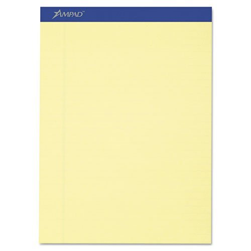 Top Pad Perf Recycled - Ampad Evidence Recycled Perf Top Pads, Lgl/Wide Rule, Ltr, Canary, 50-Sheet, Dozen by Ampad