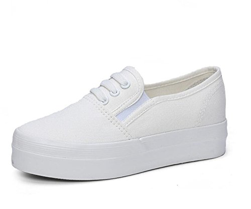 SUNNY Store Elastic Women's Casual Elastic Store Low Top Loafers Platform Slip on Flat Sneakers B07CNDN1M5 Shoes ecd516