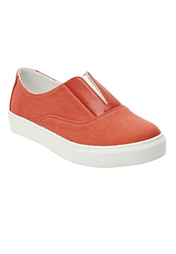 Comfortview Plus Size Maisy Sneaker (Sunset Coral,12 WW)