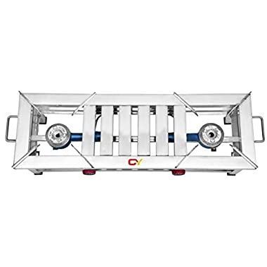 CAY Stainless Steel 2 Burner Gas Stove 4