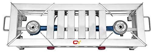 CAY Stainless Steel 2 Burner Gas Stove 1