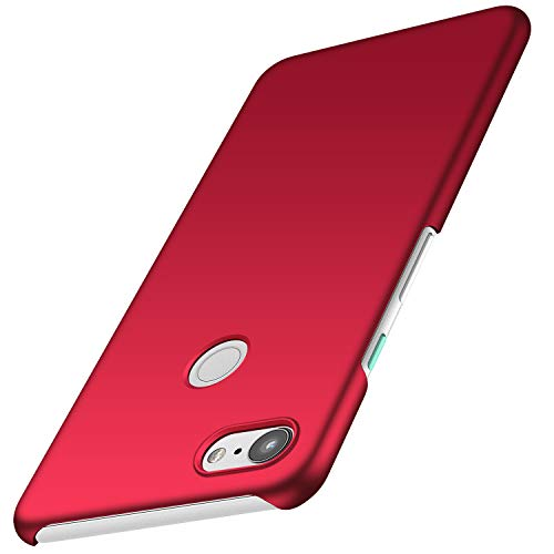 Avalri Compatible for Google Pixel 3 Case, Ultra Thin Anti-Fingerprint and Minimalist Hard PC Cover for Google Pixel 3 (Silky Red)