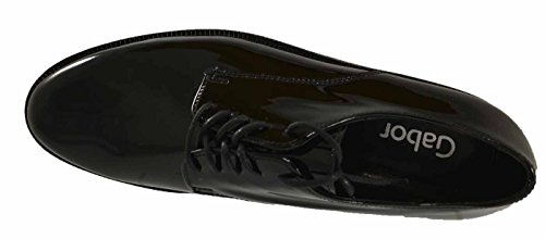 ACADI GABOR CHUNKY LACE UP Blk Patent