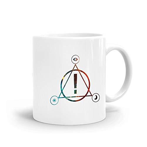Panic! at The Disco Coffee Mug White Ceramic Glossy Mug with Large C-Handle