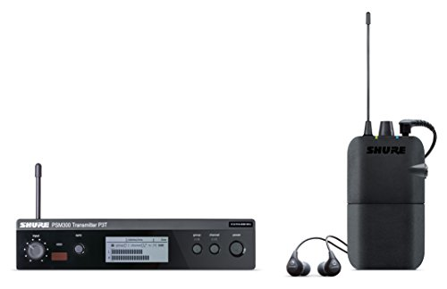 Shure P3TR112GR PSM300 Wireless Stereo Personal Monitor System with SE112-GR Earphones, G20 (In Ear Shure Monitors)
