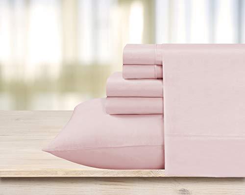 Swift Home Premiere 1800 Collection Brushed Microfiber - 4 Piece Sheet Set(Includes 1 Bonus Pillowcase), Twin, Rose Blush