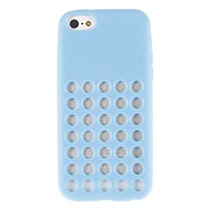 SUMCOM Solid Color Hollow-Out Round Dots Silicone Soft Case for iPhone 5C (Assorted Colors) , White