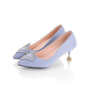 RTRY Tacones Mujer Bomba Básica Zapatos Formales Suede Cashmere Primavera Otoño Office &Amp; Carrera Parte &Amp; Traje De Noche Rhinestone Stiletto Heelblushing US4-4.5 / EU34 / UK2-2.5 / CN33