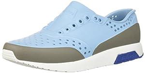 Native Kids Block Print Lennox Water Proof Shoes , Sky Blue/Shell White/Victoria Blue/Pigeon Block, 2 Medium US Little Kid