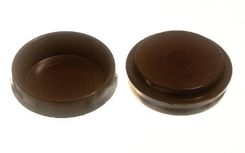 Lot Of 200 Castor Cups Furniture Floor Protector Glides Brown Plastic 60Mm
