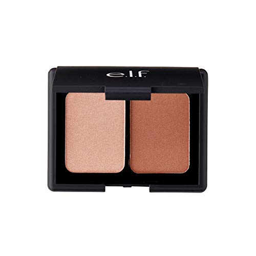 - e.l.f. Cosmetics Contouring Blush & Bronzing Powder, Two Matte Shades Perfectly Contour Skin, Turks & Caicos