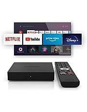 Nokia Android TV Streaming Box 8000, Smart TV Box met Android 10.0, Netflix, Amazon Prime, Disney+ en geïntegreerde Chromecast, WiFi, HDMI, inclusief Bluetooth-afstandsbediening met verlichte toetsen