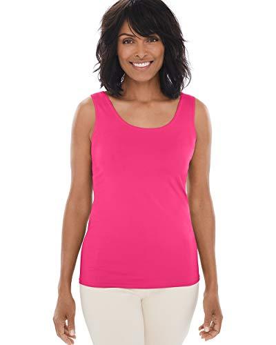 Chico's Women's Microfiber Tank Size 16/18 XL (3) Pink