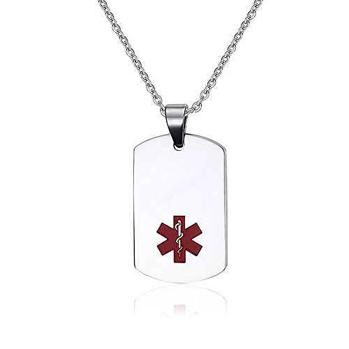 CharmsStory Medical Identity Stainless Necklace