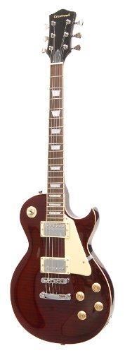 CrestWood EG530-TWR Single Cutaway Electric Guitar, Transparent Wine Red Wine Red Guitar