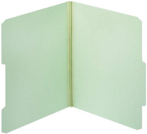 Globe-Weis Pressboard File Folders, 1-Inch Expansion, 2/5 Cut Tab, Letter Size, Light Green, 25-Count (23275GW) by Globe Weis