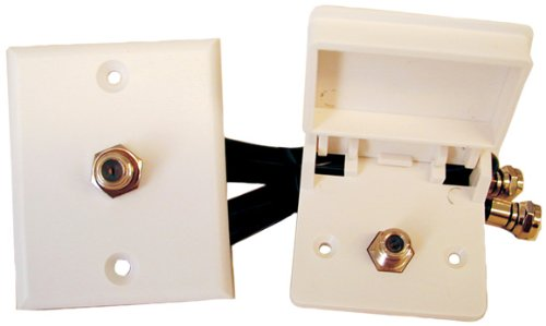Prime Products 08-6215 White Weatherproof Cable TV