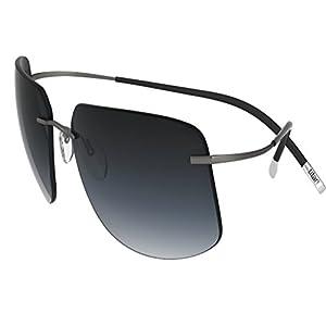 Silhouette Sunglasses Titan Minimal ART The Icon 8698 medium to large fit (ruthenium silky matte / grey gradient lenses)