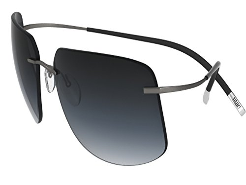 (Silhouette Sunglasses Titan Minimal ART The Icon 8698 medium to large fit (ruthenium silky matte / grey gradient lenses))