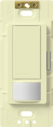 - Lutron Maestro Motion Sensor switch, no neutral required, 250 Watts Single-Pole, MS-OPS2-AL, Almond by Lutron
