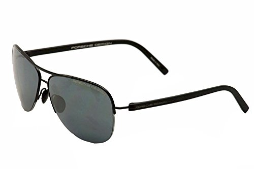 Porsche Design P'8569 P8569 A Black Aviator Pilot Sunglasses - Made Y Sunglasses In Italy