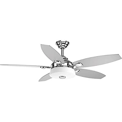 "Progress Lighting P2544-0930K Graceful Collection 54"" 5 Blade Fan with LED Light"
