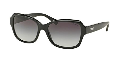 Coach Womens Sunglasses (HC8160) Black/Grey Acetate - Non-Polarized - - 56 Sunglasses