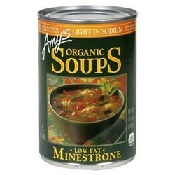 - Amy's Organic Soups Low Fat Minestrone Light In Sodium 14.1 OZ (Pack of 2)