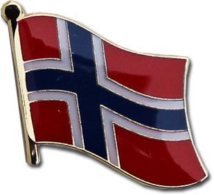 Norway National Flag Metal Pin with Clasp for suit jacket lapels, backpacks, hats, and corkboards (Norwegian pin, 0.75