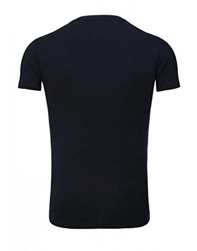 V Bleu Col Tanaka Akito 246 Tee Shirt Marine 0CIxFqw