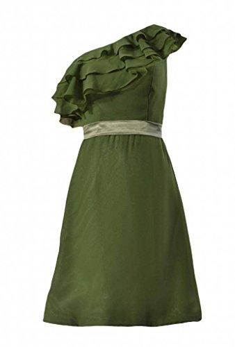 Shoulder Hunter Green chiffon BM244 One DaisyFormals Dress Dress Party Bridesmaid Cocktail 5qwzv