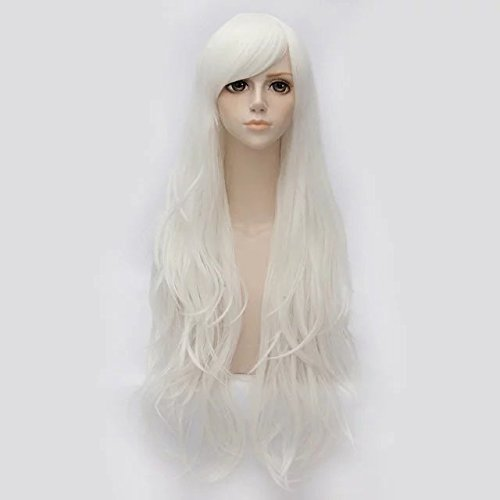 TOP-MAX Wig 80cm Long Wavy 14 Colors Fashion Girls 31 Inches Cosplay Party Basic Hair+Cap]()