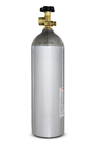High Regulators Air Pressure (Kegco I22-580 22 Cu. ft. Nitrogen Air Tank High Pressure Aluminum Gas Cylinder)
