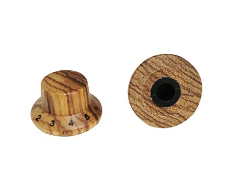 Guyker 2Pcs Guitar Wood Bell Knobs for 6mm (0.24