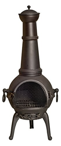 La Hacienda 56012XLUS Lisbon Black Cast Iron and Steel Chimenea, X-Large